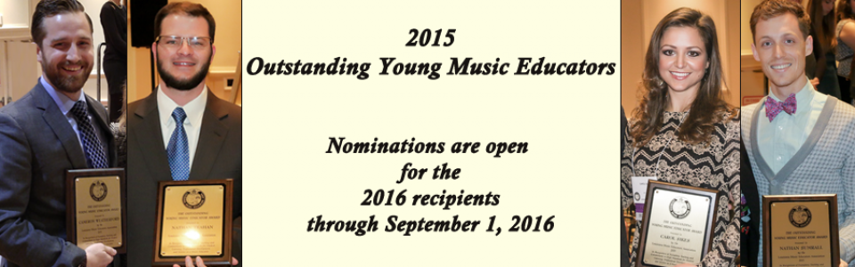 Outstanding Young Music Educators – composite