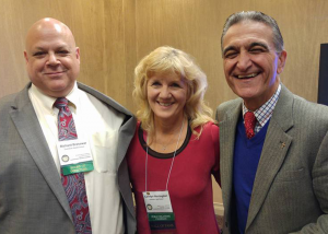 Anthony Maiello with Richard Bresowar and Carolyn Herrington