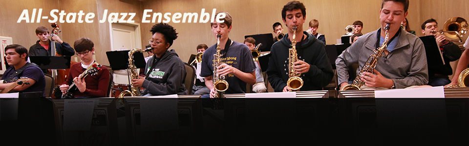 LMEA All-State Jazz Ensemble rehearsing for their concert in 2016