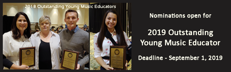 Slider – Outstanding Young Music Educators – 2018 composite