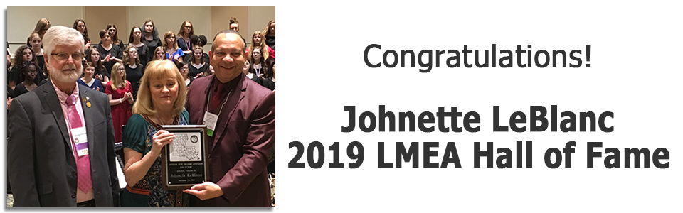 2019 LMEA Hall of Fame – Johnette LeBlanc