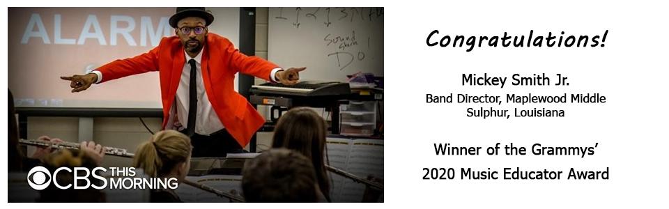 Mickey Smith Jr wins Grammys 2020 Music Educator Award